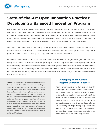 Strategic Balance of Innovation