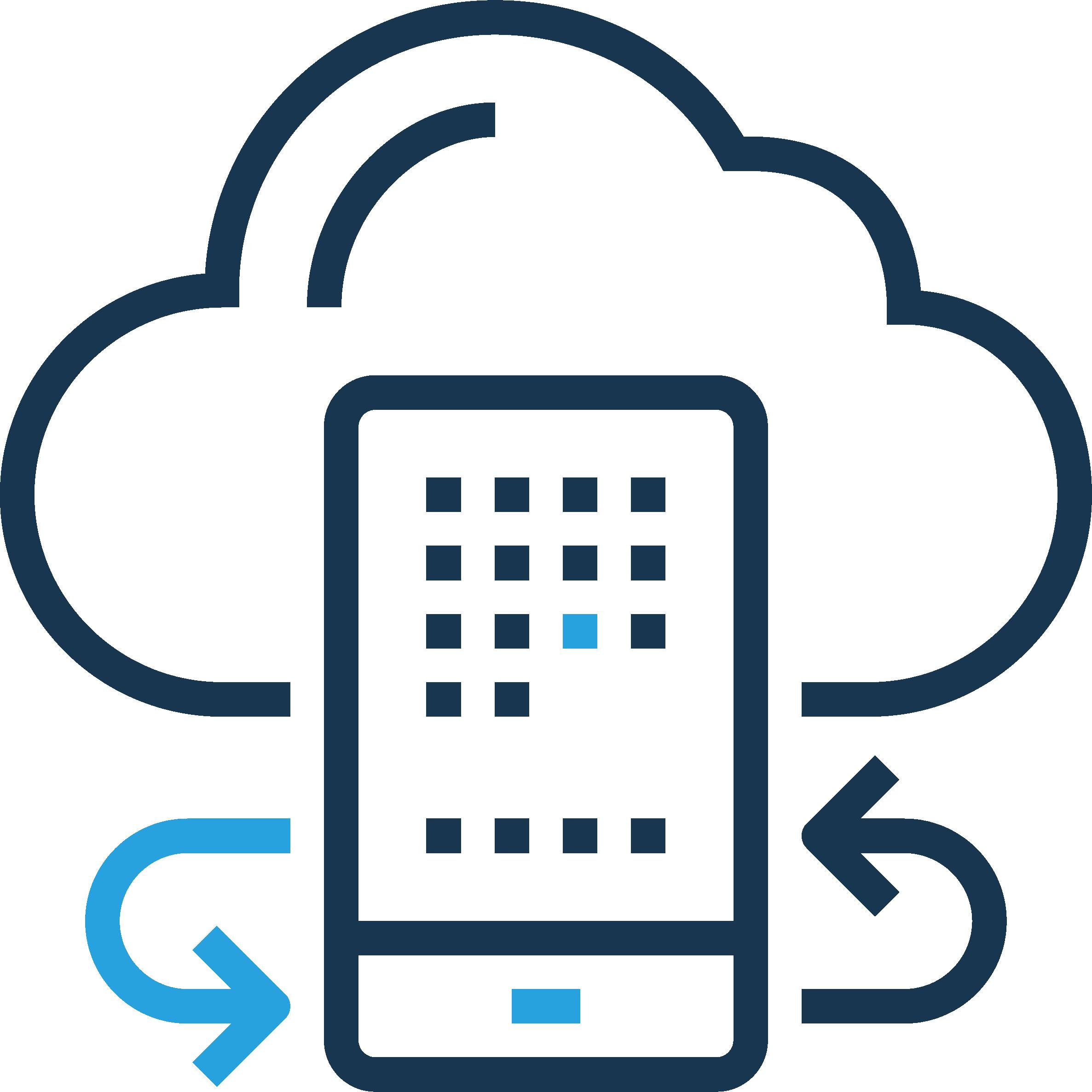 cloud surrounding mobile phone